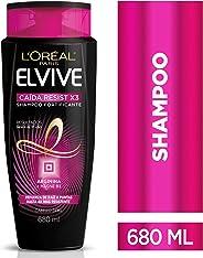 L'Oreal Paris Shampoo, Caida Resist X3 Elvive, 680 ml