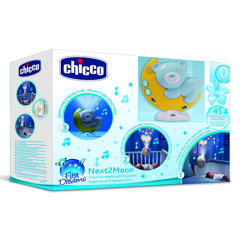 Chicco Next2moon - Proyector de cuna con luces y sonidos, móvil ...