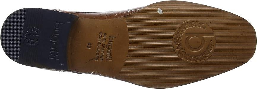 Brown Cognac 6300 9 UK Bugatti Mens Derby Lace-Up