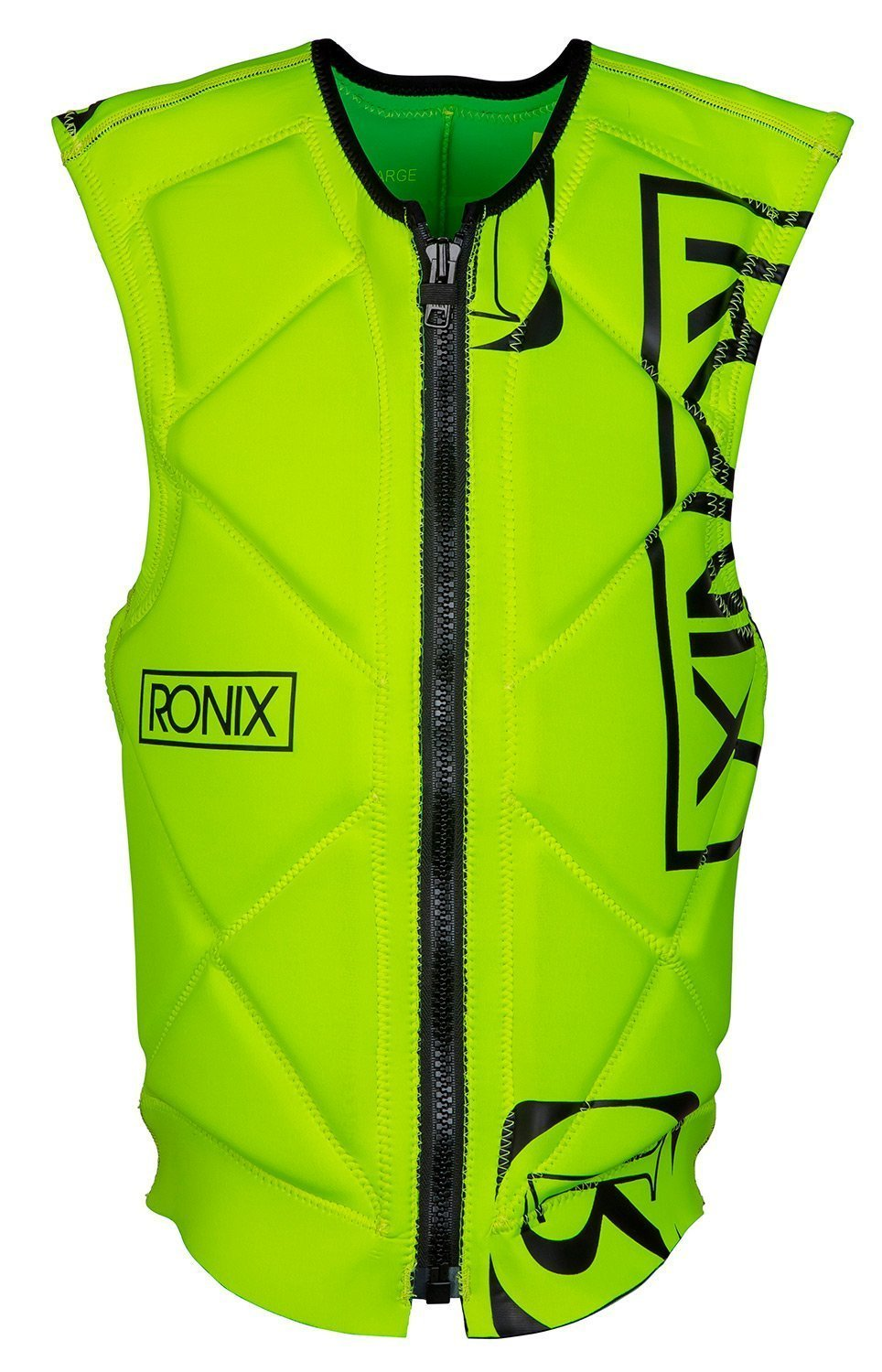 RONIX Party - Front Zip - Reversible Impact Jacket - Mike Lime / Highlighter Yellow - S