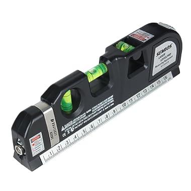 Semlos Multipurpose Laser Level Measuring Tape Standard and Metric Tape Ruler (8ft/2.5M)