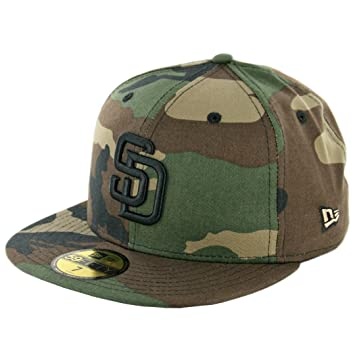 New Era 59 FIFTY San Diego Padres sábana bajera ajustable sombrero (camuflaje  verde negro) MLB Cap 89a4059069a