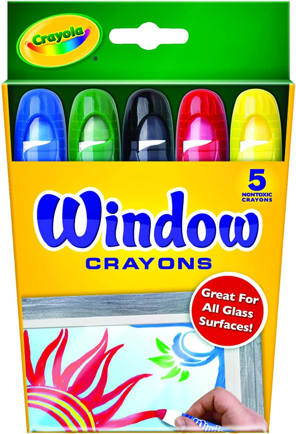 Assorted 5 Count Crayola Washable Window Crayons 3 Pack