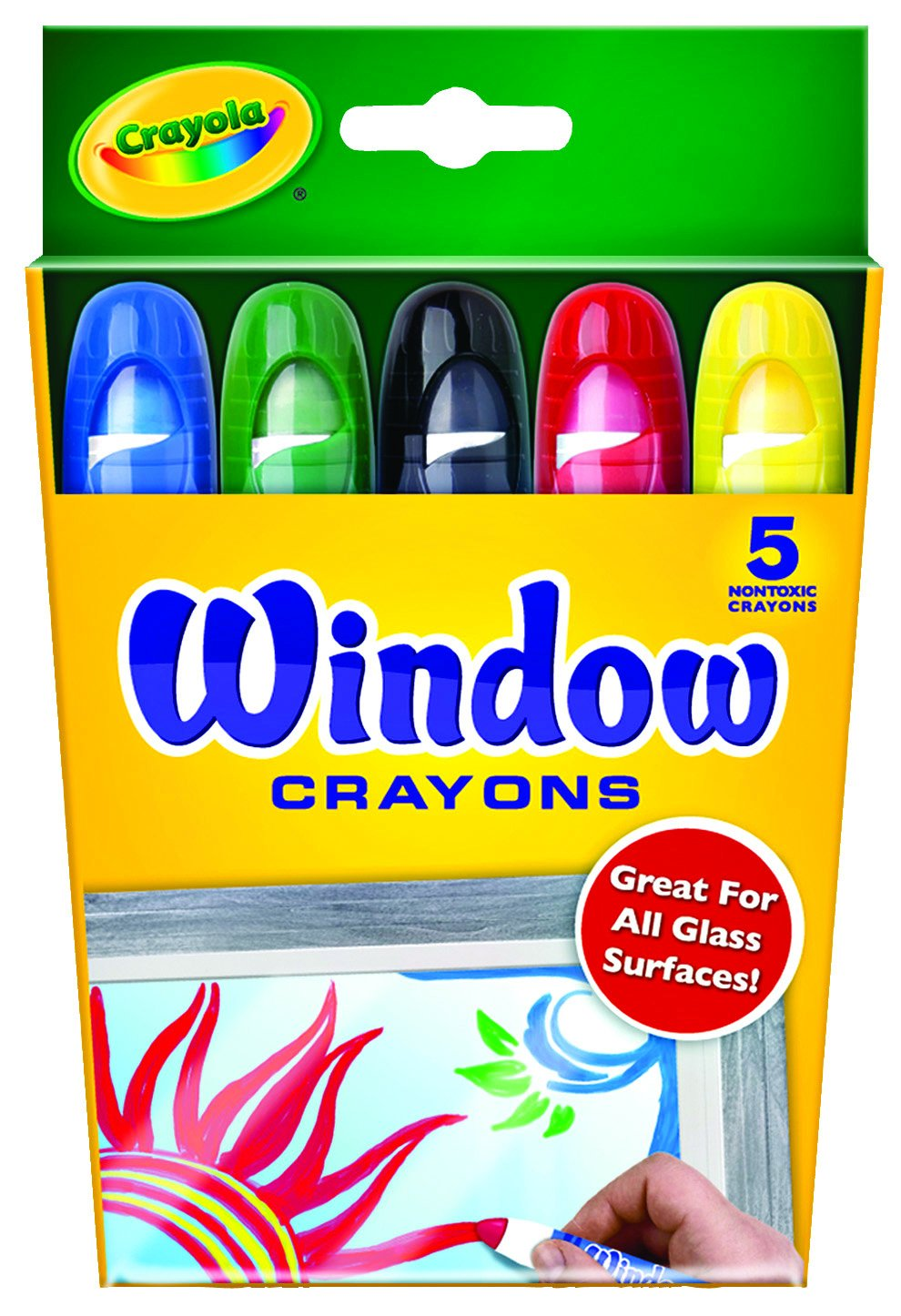 Crayola Washable Window Crayons - 5-count 52-9765