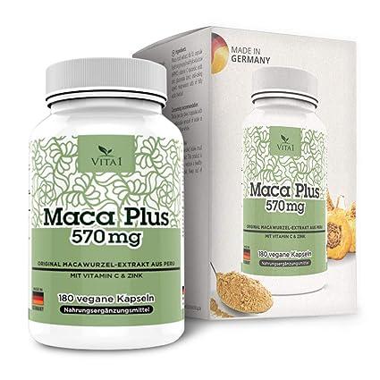 Cápsulas de Maca Plus 570mg de VITA1 • 180 cápsulas (6 semanas de suministro)