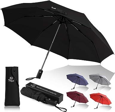 Windproof Travel Umbrella Stitch Compact Folding Umbrella Automatic Open//Close