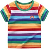 Motecity Little Boys' T-Shirt Rainbow Striped