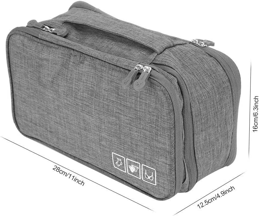 Organizador de viaje para ropa interior bolsa de almacenamiento para sujetador bolsa de almacenamiento para ropa interior bolsa de almacenamiento port/átil de doble capa organizador Negro