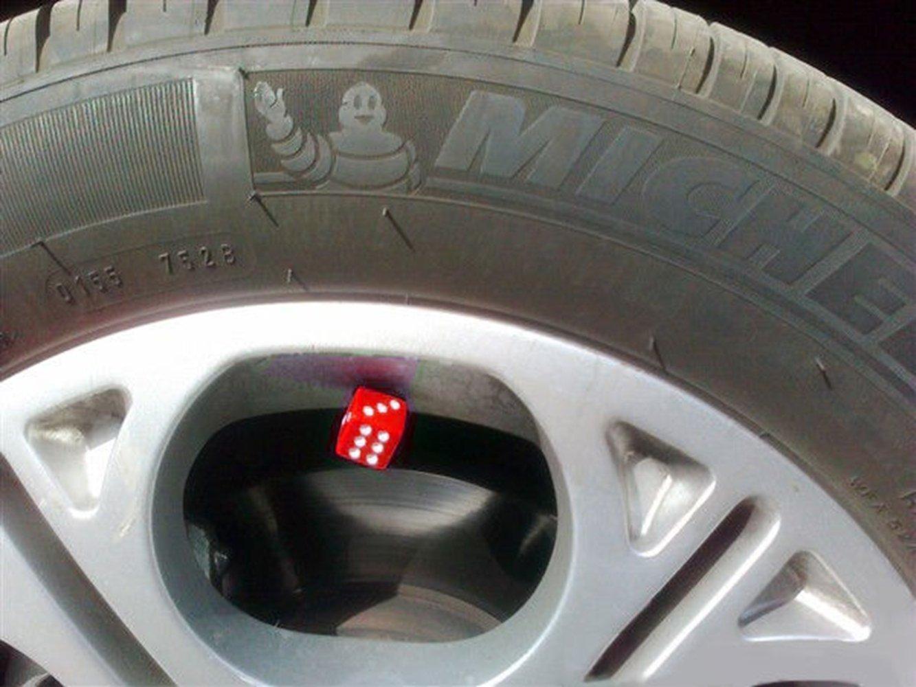 nero Itimo 4pcs dice Air valvola del pneumatico auto camion Automobiles pneumatico aria delle protezioni antipolvere impermeabile della decorazione auto