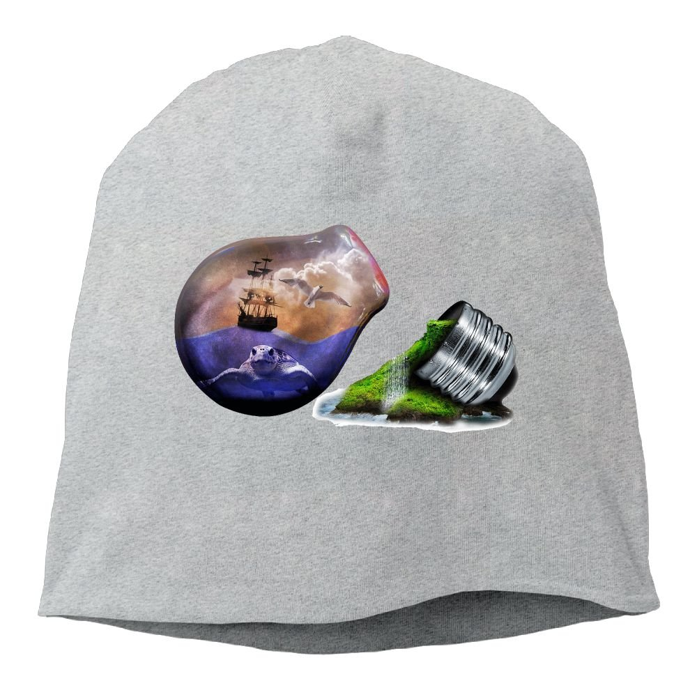 Fashion Solid Color Creative Light Bulb Love Head Cap for Unisex White One Size