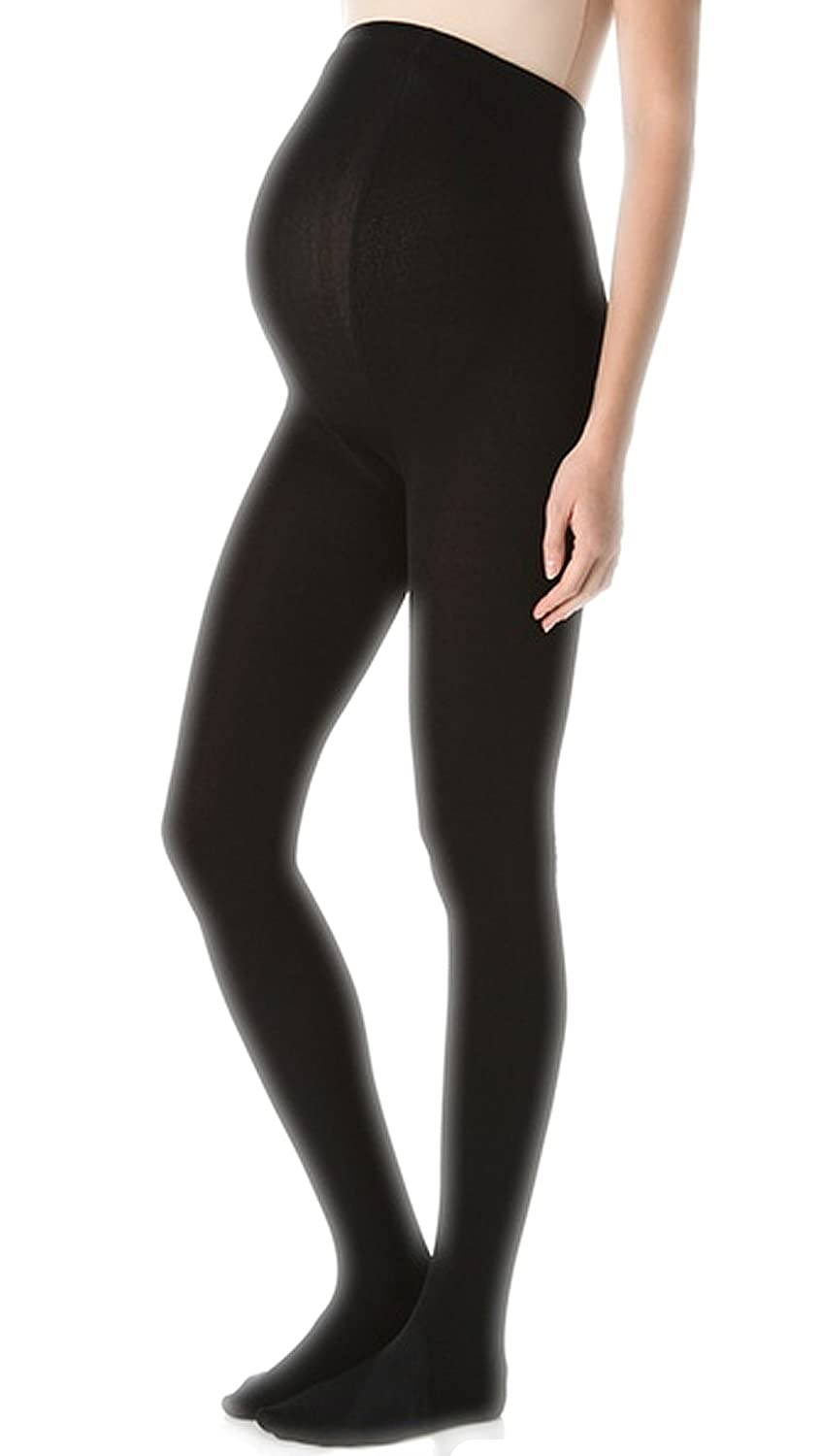 2 Pairs 40 Denier Black Opaque Comfortable Maternity Tights for Pregnancy