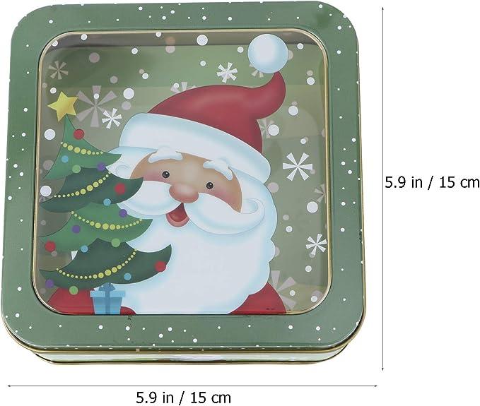 Zufall Toyvian 2 St/ücke Weihnachten Geschenkdose Kerzen Dose Metalldose Keksdose Teedose Geb/äckdose Vorratsdose Retro Blechdose f/ür Yoga Spa Massage Teelichter S/ü/ßigkeiten Gew/ürze