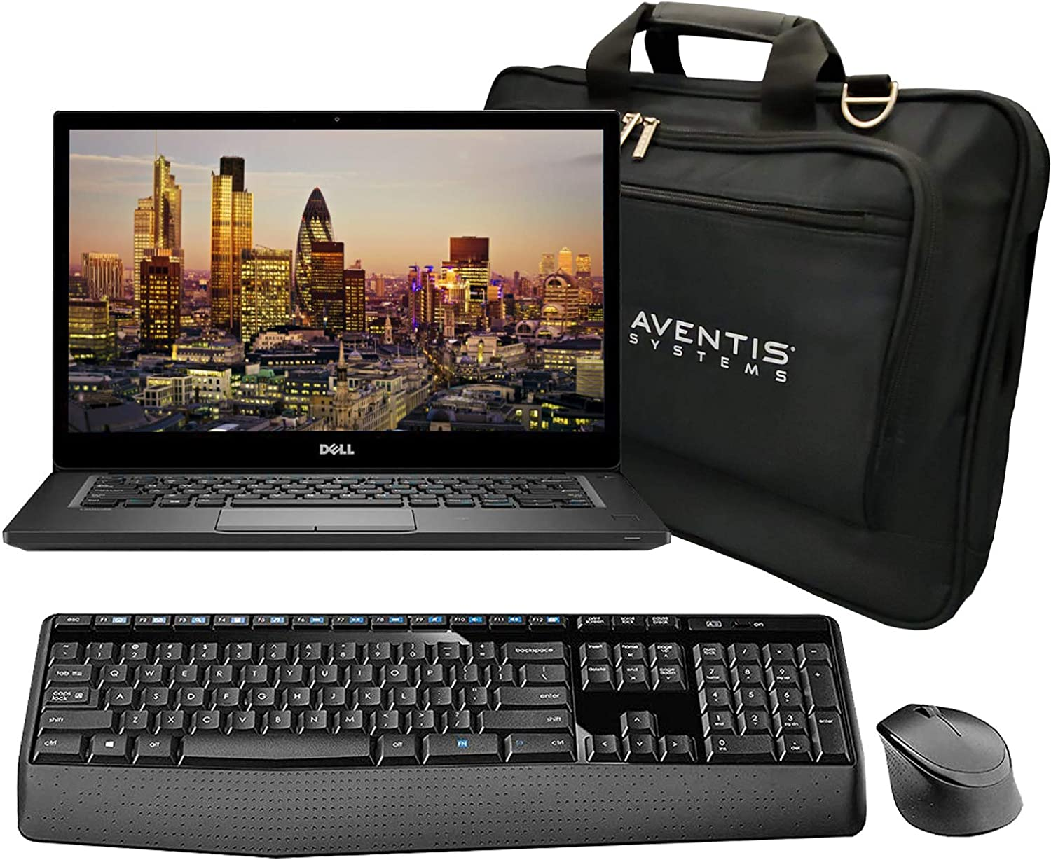 Dell Latitude Business Laptop 7490 Bundle with Bag, Wireless Keyboard and Mouse, 14 Inch Display, Intel i7-8650U Quad Core, 8GB RAM, 256GB NVMe SSD, WiFi, Win 10 Pro (Renewed)