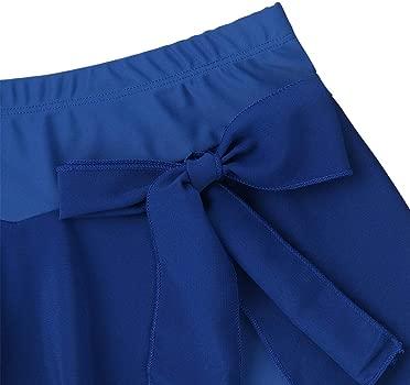 dPois Falda Corta para Patinaje Art/ístico Danza Ballet Balie Moderno Mujer Falda Irregular Cintura El/ástica Ropa Deportiva Traje Profesional Ropa Deportiva Disfraz para Mujer Chica