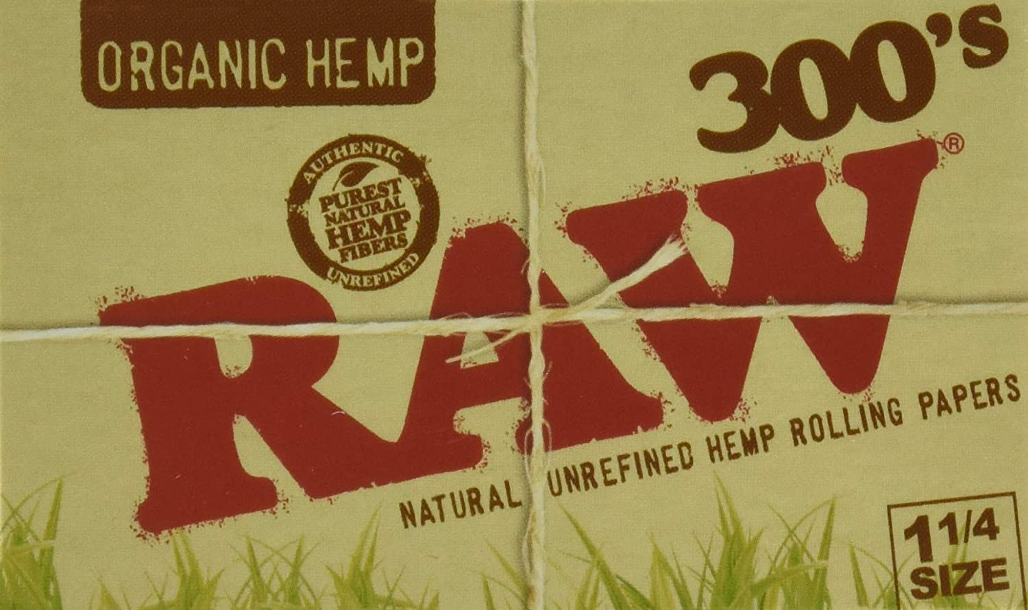 RAW Organic 300 1.25 1 1/4 Size Rolling Papers 1 Pack = 300 Leaves, 300 Count (Pack of 1)