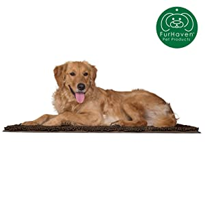 Furhaven Pet Dog Bed Mat | Insulated Self-Warming Pet Bed Mat, Water-Resistant Thermal Throw Blanket, & Absorbent Chenille Bath Towel Rug for Dogs & Cats - Available in Multiple Styles & Sizes