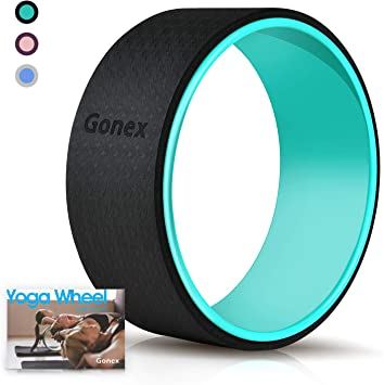 Gonex Yoga Wheel, 13 Inch for Back Pain Stretching with 10mm Thicken External Pad, Sturdy Back Roller Stretcher for Yoga, Backbend with Workout ...