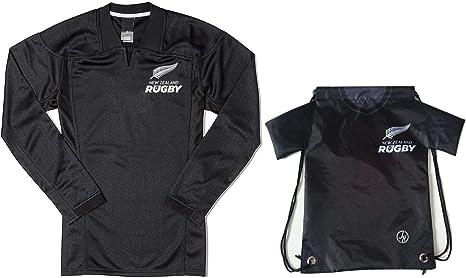 Fan Kitbag - Camiseta de Rugby de Nueva Zelanda, Color Negro ...