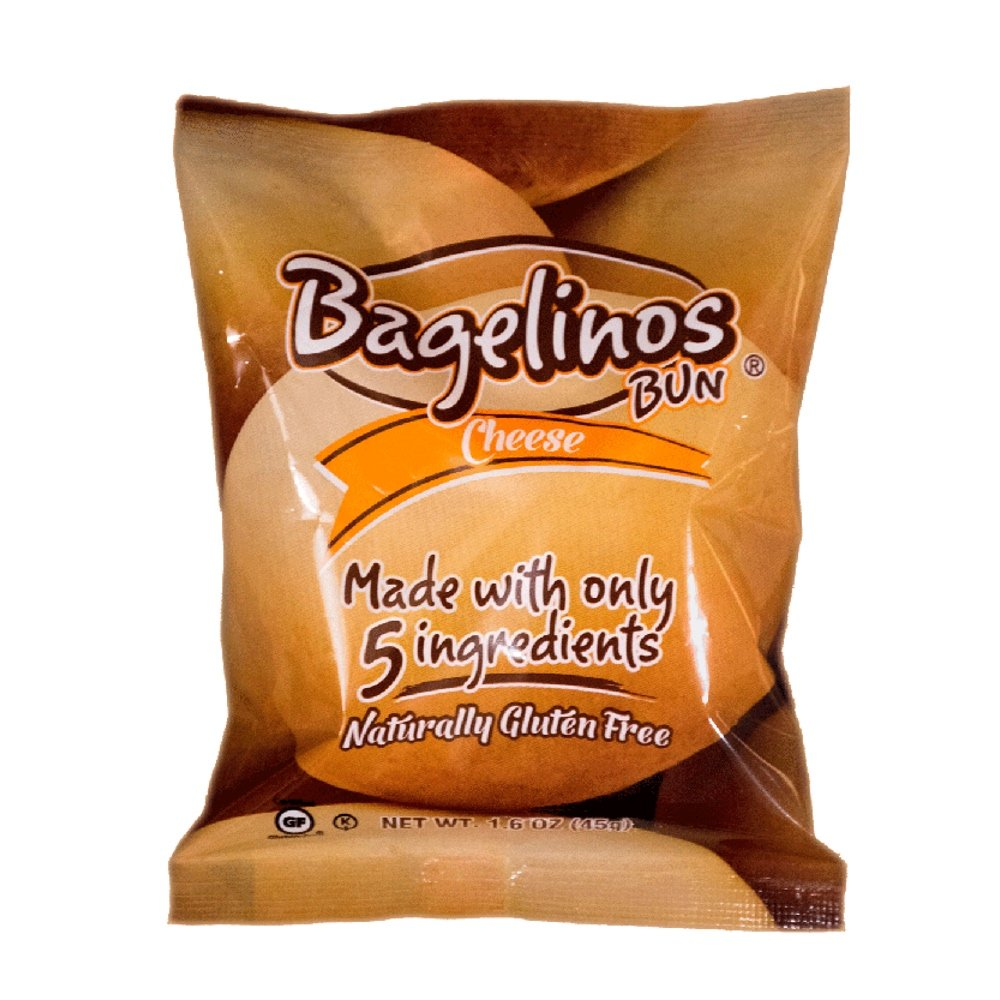 Bagelinos Bun Cheese, Gluten-Free, 1.6 OZ each, Box of 40 by Bagelinos