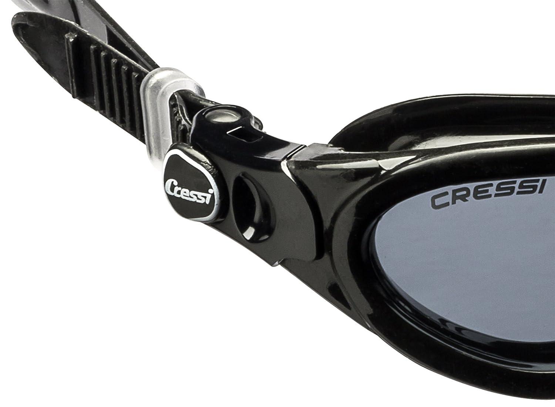 Gafas de Nataci/ón con Cristales Independientes Negro Cressi Flash Anti Empa/ñante y Anti UV