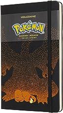 Moleskine Limited Edition Notebook Pokemon Charmander, Large, Ruled, Black, Hard Cover (5 x 8.25)