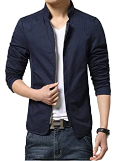 05693a3c3242 Magike Veste Homme Vestons Coton Slim Fit Jacket Blazer Blouson Casual Loisir  Affaires Mariage