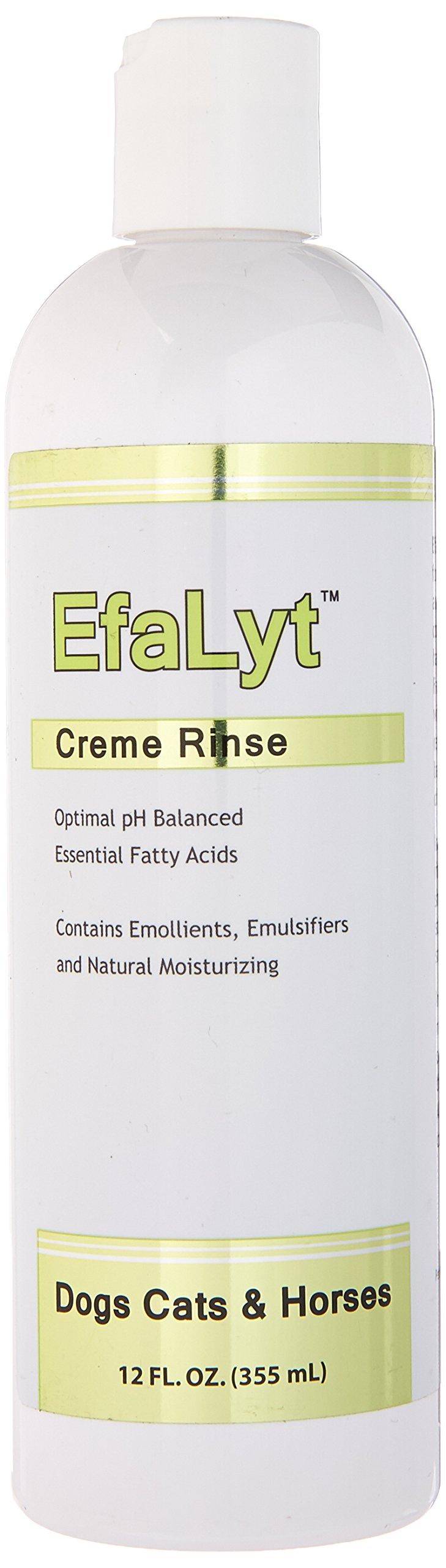 EfaLyt Creme Rinse Remedy Pets - Hypoallergenic Formulation - Natural Moisturizing Promote Hydration - Essential Fatty Acids - 12 fl oz