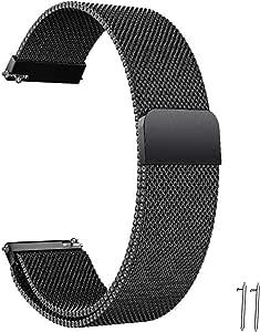 Correa Reloj 20mm 22mm Correa Milanesa Reloj de Acero Inoxidable Correa Malla Reloj Magnética Reemplazo de la Banda de Reloj de Pulsera de Acero Inoxidable para Hombres y Mujeres