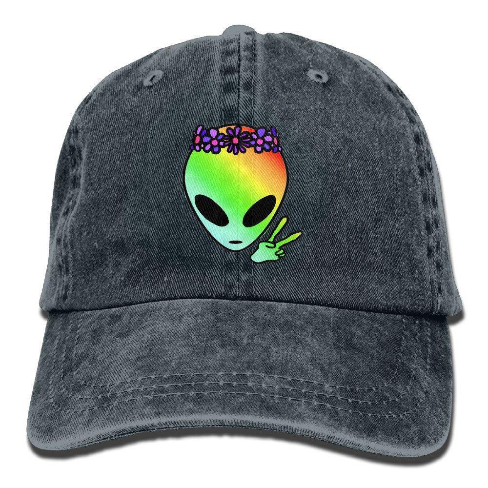 Cool Alien Adult Sport Adjustable Baseball Cap Cowboy Hat at Amazon Mens Clothing store: