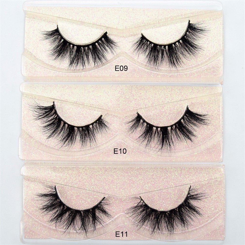 428fe2d3d3a Amazon.com : Mink Lashes 3D Mink Eyelashes 100% Cruelty Free Lashes Handmade  Reusable Natural Eyelashes Wispies False Lashes Makeup visofree E02 : Beauty