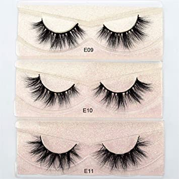1dec11bba56 Amazon.com : Mink Lashes 3D Mink Eyelashes 100% Cruelty Free Lashes  Handmade Reusable Natural Eyelashes Wispies False Lashes Makeup visofree  E02 : Beauty