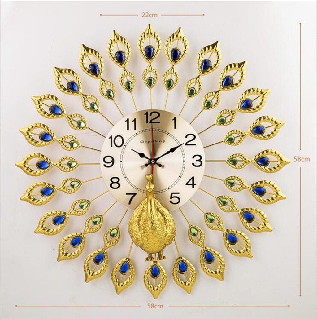 YFF-壁時計 ヨーロッパのクリエイティブレトロピーコックの壁時計大きなリビングルームヨーロッパのファッション時計と時計現代ミニマルサイレントクォーツ時計 ( サイズ さいず : 68cm 68 cm ) B07CKLZW3T 68cm 68 cm 68cm 68 cm