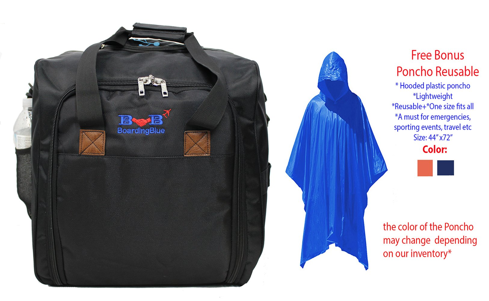 BoardingBlue American All Airlines ''Go to Cuba'' Light Carry On Bonus Poncho
