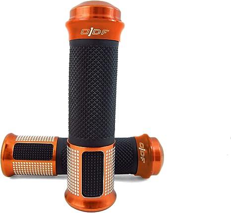 7//8 Manopole per manubrio moto 22 mm in alluminio CNC arancione serie moto