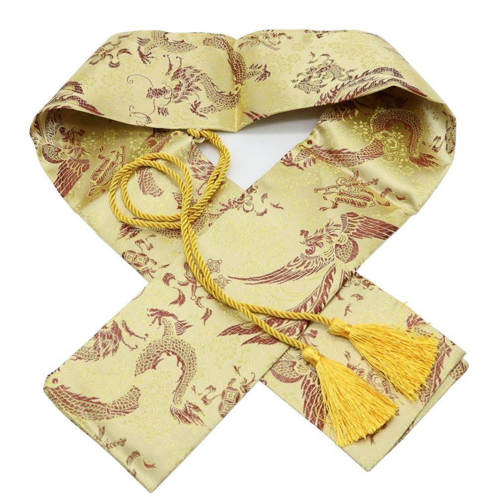 51 Silk Japanese Katana Samurai Wakizashi Tanto Sword Carry Bag with Golden Tassel (Flowers) Eforlife