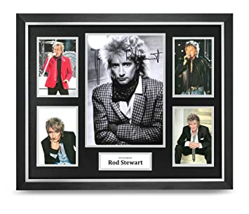 7f1087dbc91b Rod Stewart Signed Photo Large Framed Music Display Autograph Memorabilia  COA  Amazon.co.uk  Sports   Outdoors