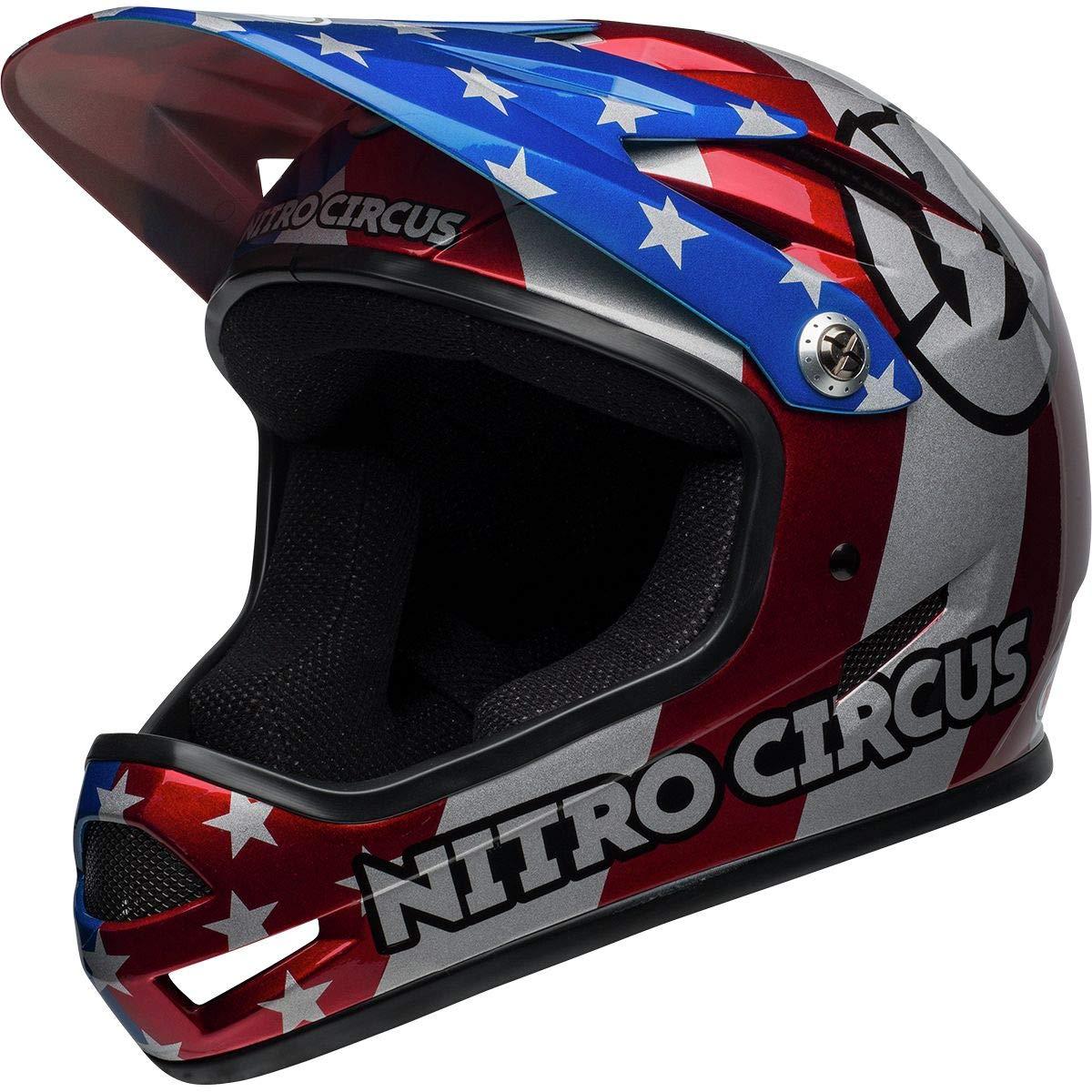 Bell Sanction Bike Helmet - Nitro Circus Gloss Silver/Blue/Red X-Small