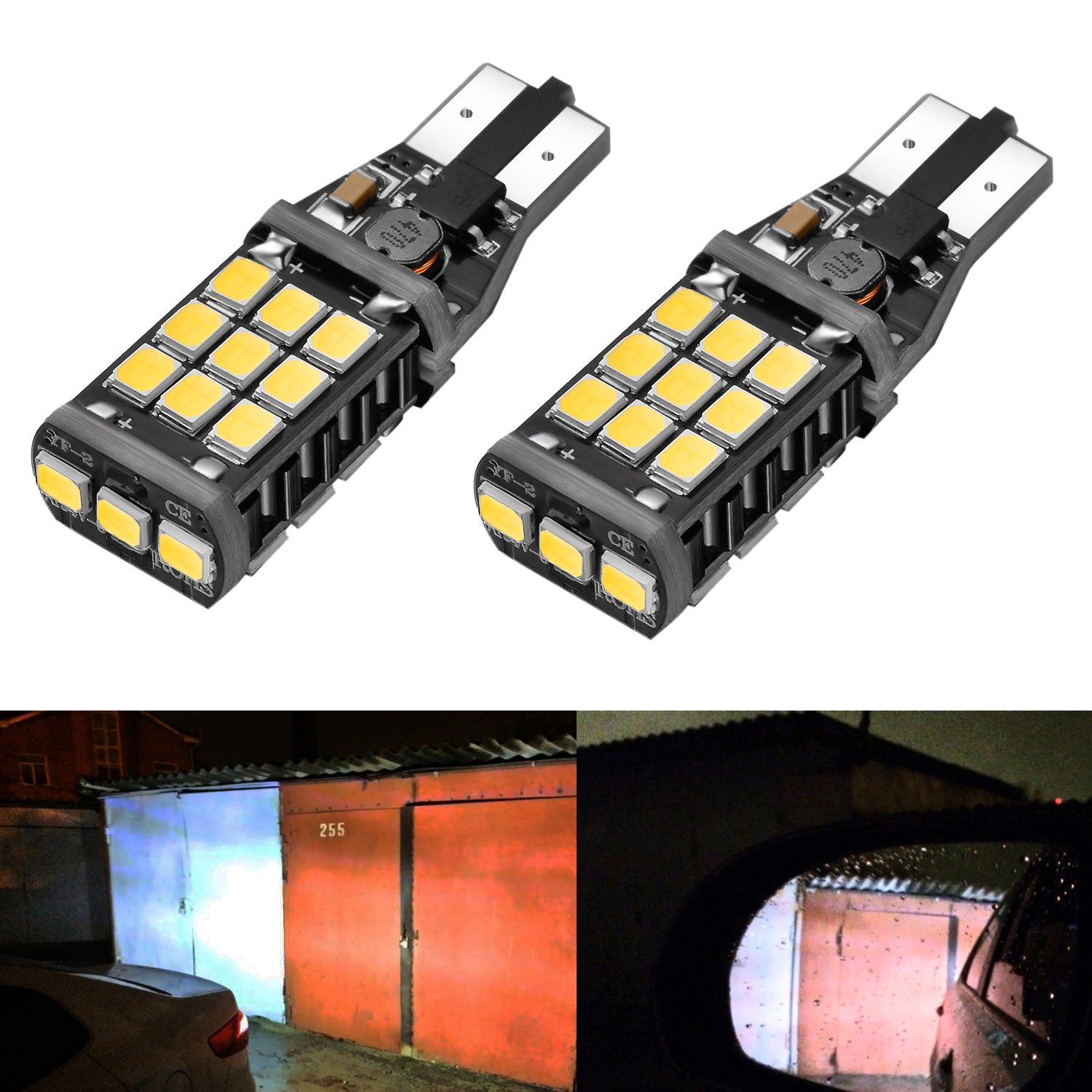 FORD FOCUS MK3 11-ON BRIGHT CANBUS LED SIDE LIGHT 501 W5W T10 13 SMD WHITE BULBS