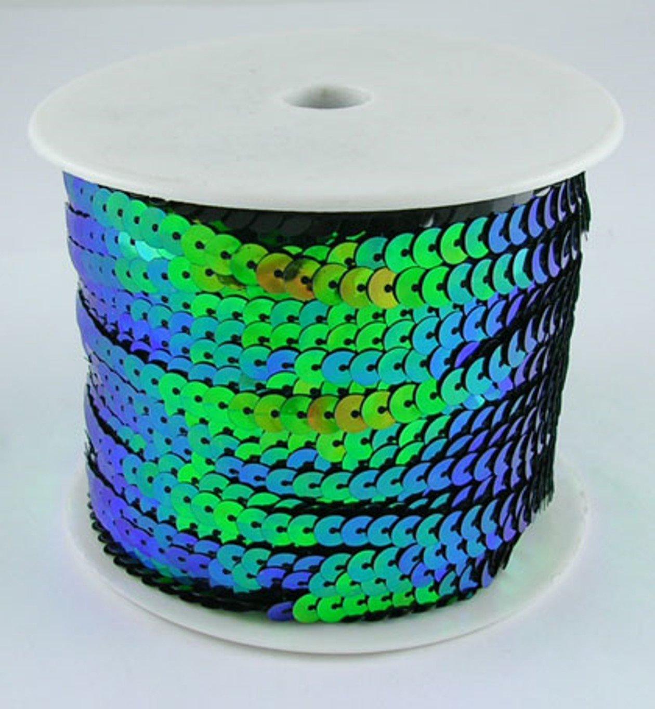 Paillettes nastro verde acqua 6mm di larghezza e 91meter fai da te, colore platino Bastel Express 4250983915730