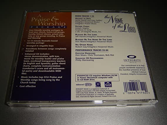 The Name Of The Lord A Praise Worship Package By Integrity Music