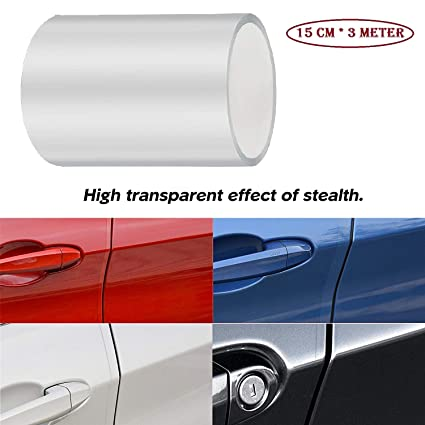 Silver New Universal Car Door Crash-Proof Stickers Tape Styling Carbon Fiber Adhesive Tapes