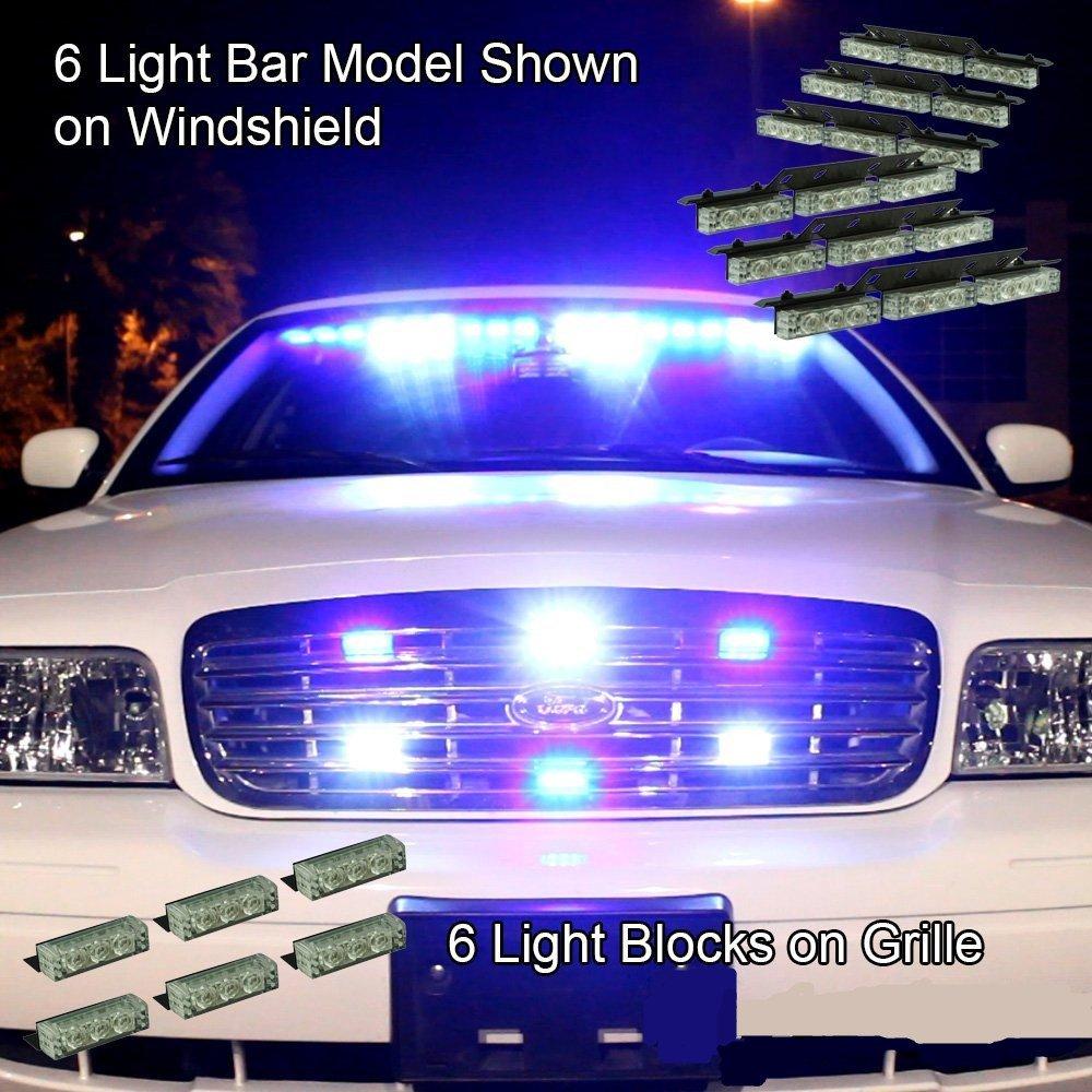 XKTTSUEERCRR 54 LED Emergency Vehicle Strobe Lights Bars Warning Deck Dash Grille Amber//White