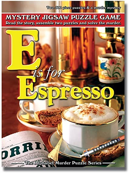 E is for Espresso TDC Games Alphabet Mystery Puzzle