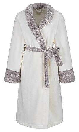 bonne qualité meilleur site aperçu de Femmes sortie de bain de luxe en coton doux LD Outlet Robe de chambre  Peignoir Style velours, longueur au genou avec fermeture Éclair
