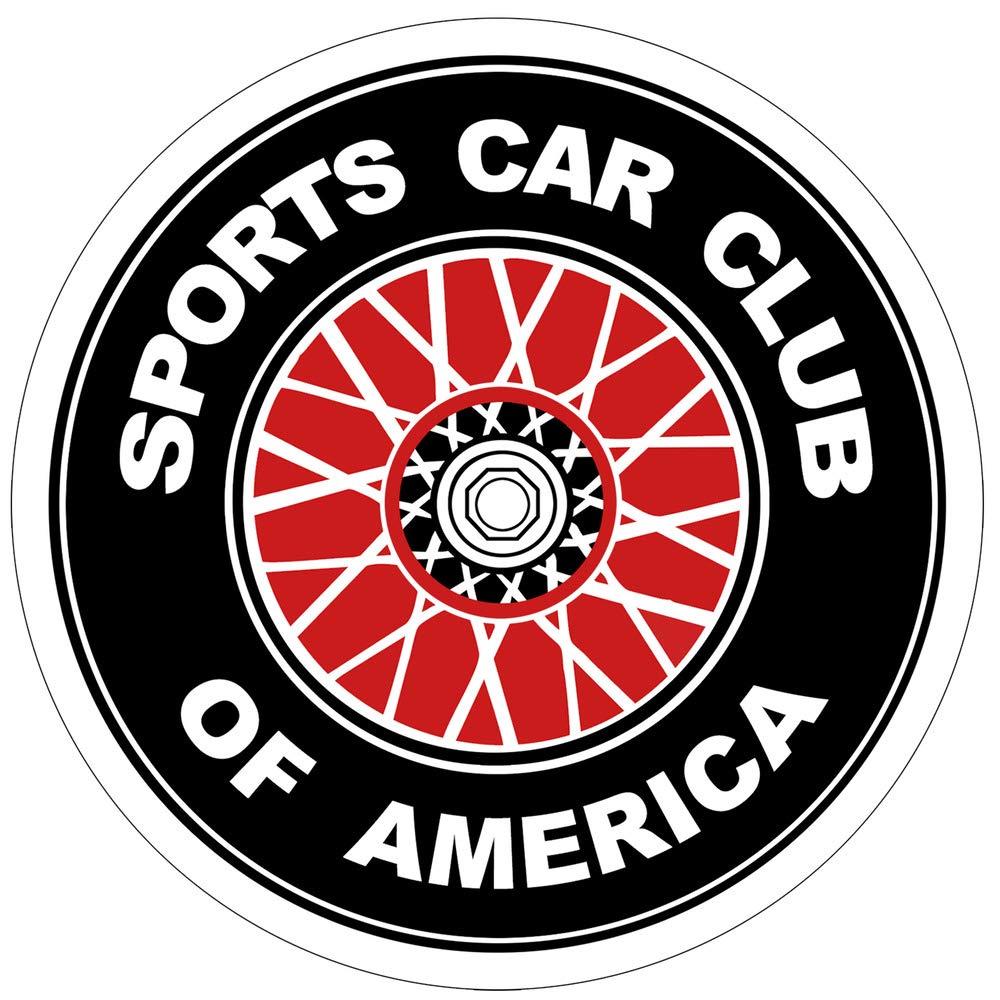 """SCCA Sports Car Club of America sticker decal 5/"""" x 5/"""""""
