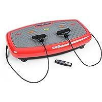 Klarfit Vib 1000 • Plateforme vibrante • Appareil fitness • 30 niveaux d'intensité • ordinateur d'entraînement • écran LCD • rouleau d'appui • peu encombrant • max. 120 Kg • bandes de fitness • noir