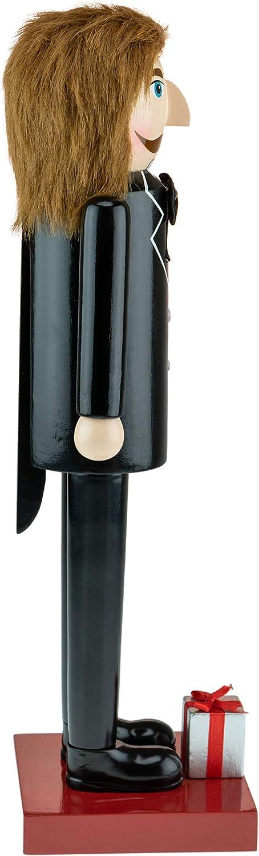 una Lupa y una Pipa Clever Creations con Abrigo Tweed ingl/és Tradicional de Color marr/ón 35,5/cm Figura Decorativa Tradicional de Madera Cascanueces de Navidad Sherlock Holmes