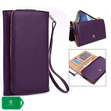 Motorola DROID Maxx 2, Motorola DROID Turbo 2 Phone wristlet case with I.D and Card