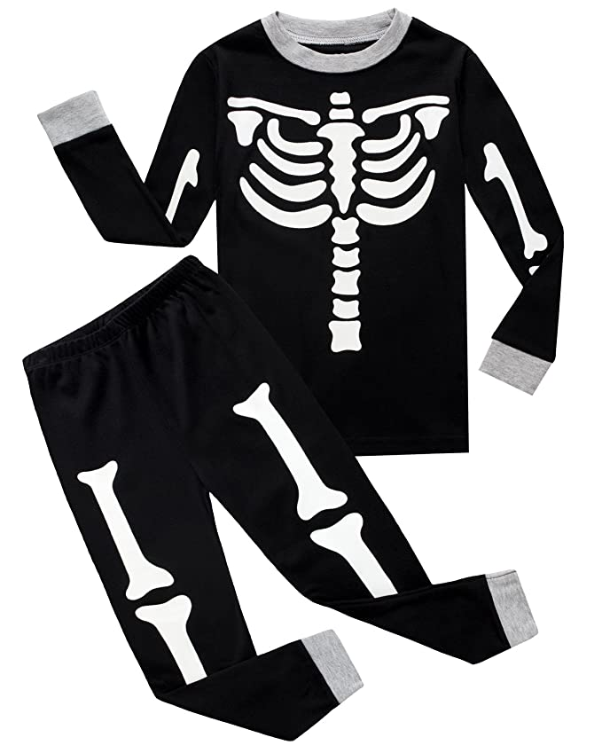Black Skeleton Pyjama Set
