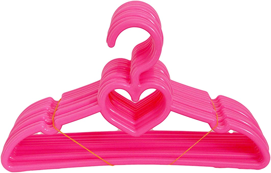 Brittanys 24 Pack Pink Hangers Compatible with American Girl Doll Clothes 18 Inch Doll Clothes Hangers